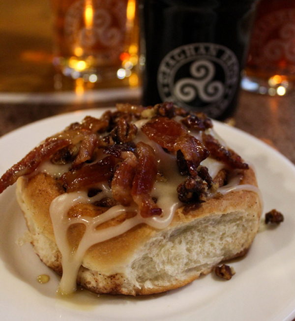 Geaghan's Pub & Craft Brewery Candied-Bacon-&-Pecan-Cinnamon-Roll-2