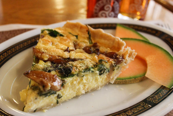 Geaghan's Pub & Craft Brewery Spinach-&-Roasted-Garlice-Quiche