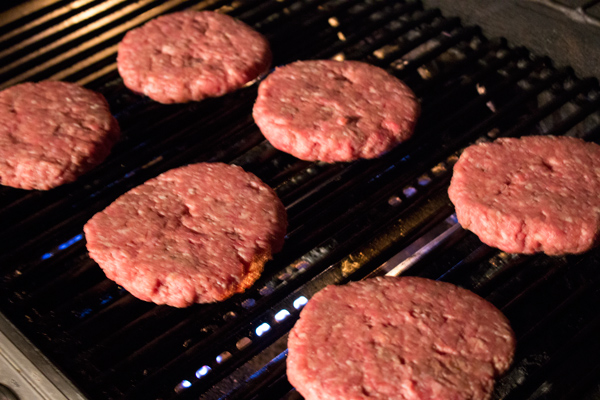 Burgers-on-grill