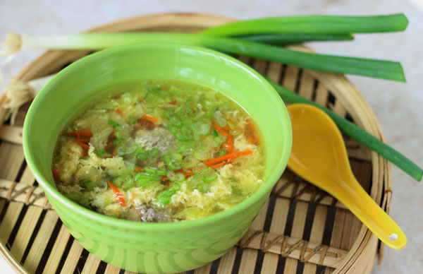 Egg Drop Meatball Soup